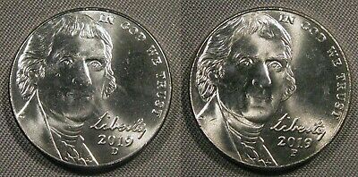 2017 P D Jefferson Nickel Set of 1-P /& 1-D Brilliant Uncirculated Roll Coin/'s