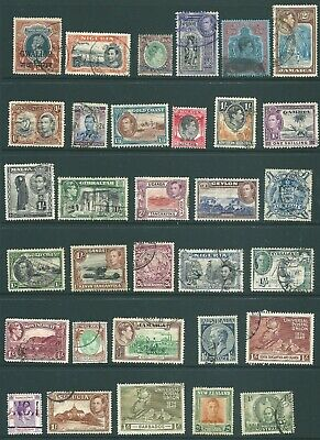 BRITISH COLONIES George VI used stamp collection: Higher Denominations