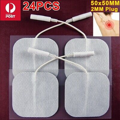 24PCS Tens Machine Replacement Electrode Pad Gel Self-Adhesive Non-Woven Fabric