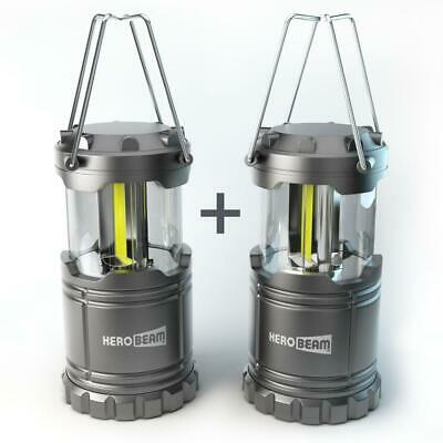 HeroBeam 2 x LED Lantern Tough Lamp Camping Great Light with Magnetic Base Best