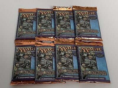 MTG Magic The Gathering Apocalypse (8)Booster Pack Lot WOTC - FACTORY SEALED New