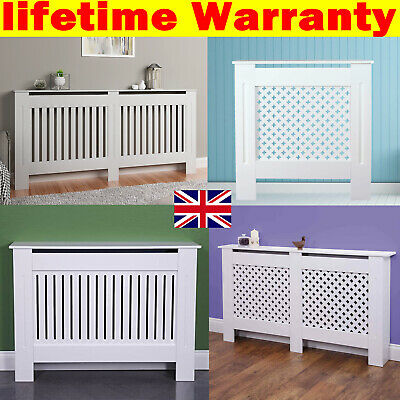Chelsea Oxford Radiator Cover Modern White Cabinet Slatted Grill Wood Adjustable