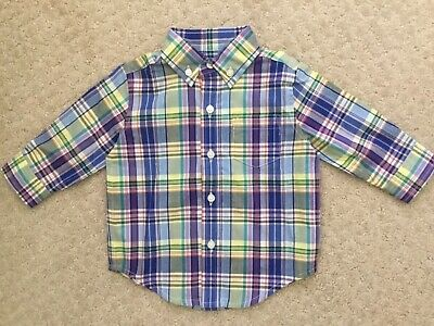 Janie and Jack Baby Boys Plaid Poplin Shirt Top NWT sz 3-6 months