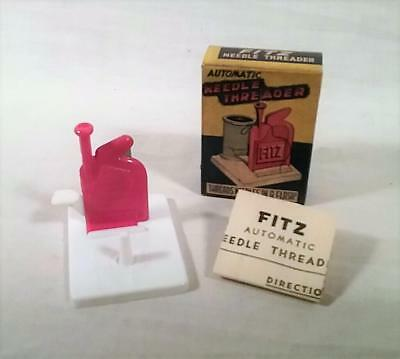 Vintage Fitz Automatic Needle Threader Mint In Original Box With Instructions