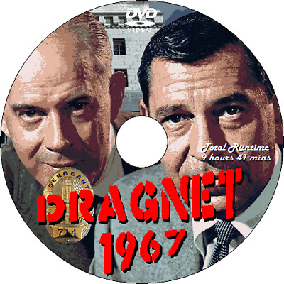 DRAGNET 1967 - 1970 TV Series - 4 Disk Set, 99 Episodes Jack Webb & Harry Morgan