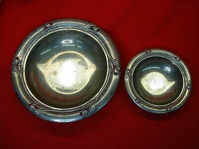 "International Sterling - Spring Glory Pattern - 2 Diff. Size Bowls - 6 1/2"" & 10"