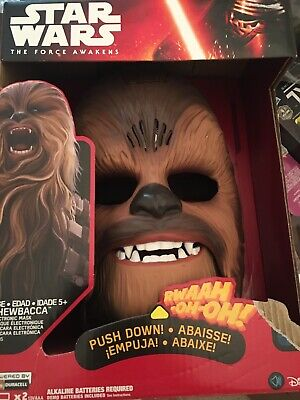 Star Wars The Force Awakens Chewbacca Electronic Mask - Box Has Damage.