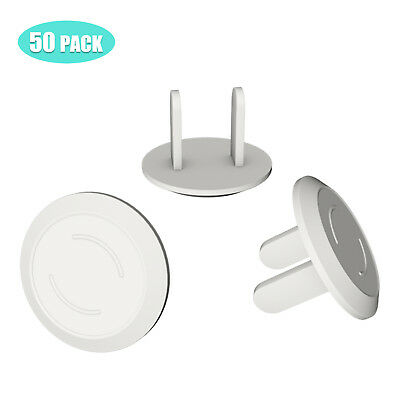 50Pcs Anti Electric Shock Plugs Protector Cover Cap Power Socket Electrical