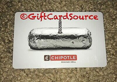 """CHIPOTLE GIFT CARD """"SPRING FLING"""" COLLECTIBLE NEW 2019"""