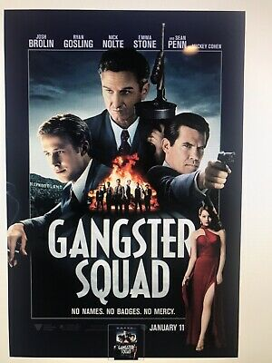 GANGSTER SQUAD MOVIE POSTER DS ORIGINAL Advance 27x40 RYAN GOSLING SEAN PENN