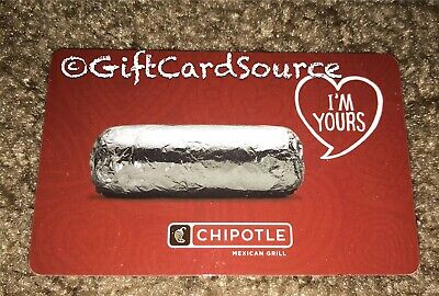 2012 Chipotle Red Gift Card Burrito I'm Yours Collectible New