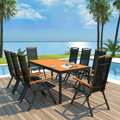 CASARIA® SALON DE jardin aluminium »Bern« 1 table 8 chaises ...