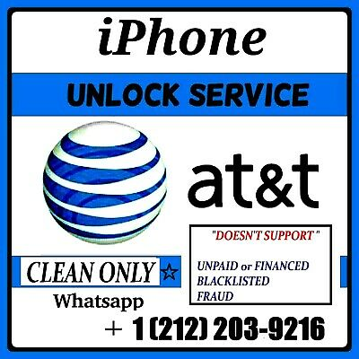 Premium Unlock At&t Service Iphone 4, 5, 6, 7, 8, 8+, X, Xr, Xs Max (Clean Only)