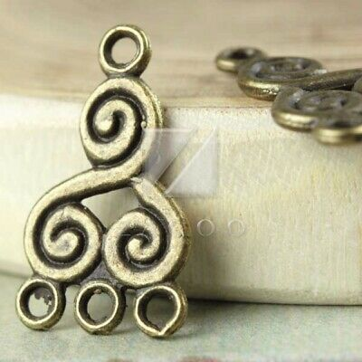 25pcs Tibetan Silver Charm Pendant Link Connector Jewelry Owl 28.5x13x2mm