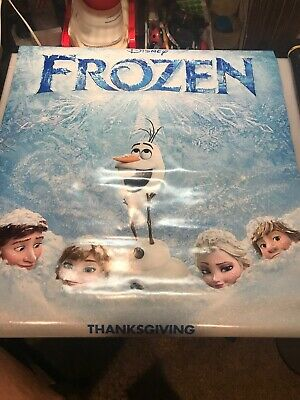 Frozen Original Movie Poster 27x40 Double Sided U.S. Final Version 2013 Disney