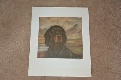 Julie Stooks- Lord of the Glen Gordon Setter print, limited edition