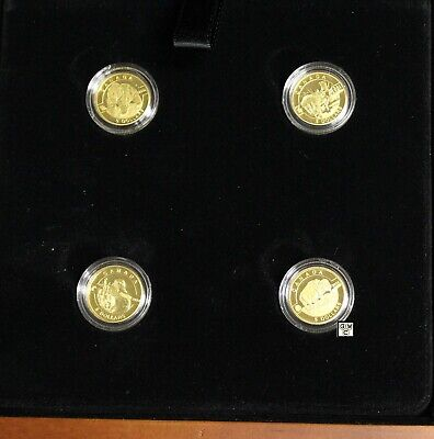 "2014 ""O Canada"" Proof $5 .9999 Fine Gold Coins Set of 4 (OOAK)"