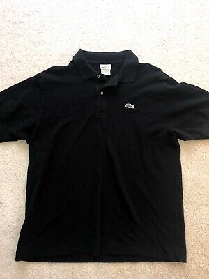 a68709ab9 Lacoste Men's Classic Fit Black Polo Short Sleeve Shirt Size 6 Crocodile  Logo