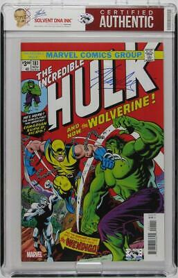 Stan Lee Autograph | The Incredible Hulk #181 Facsimile Edition | Solvent DNA In