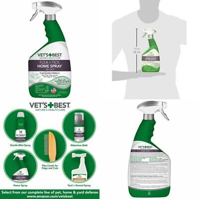 Vets Best Flea and Tick Home Spray for Cats 32 oz USA Made cat animal