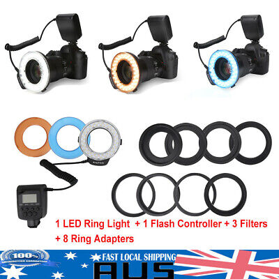 DSLR Camera Photo Macro Ring Flash Light 48 LEDs for Nikon Canon Pentax Olympus
