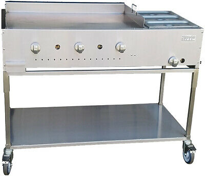 "New. 48"" Taco Cart Griddle plate w/ Steam, S/S construction Made in USA by Ekono"
