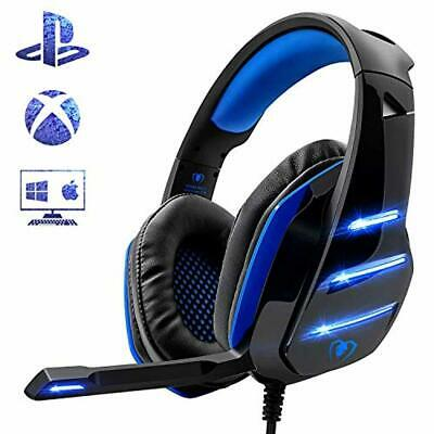 Beexcellent - Auriculares para PS4, Surround Bass y Professional con micrófone