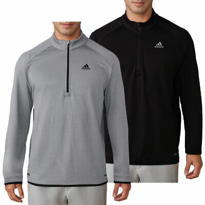 adidas Golf Mens Climaheat Gridded 1/4 Zip Pullover Sweater 28% OFF RRP