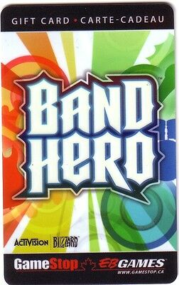 BAND HERO EB GAMES Limited Ed COLLECTIBLE Gift Card New No Value BILINGUAL*