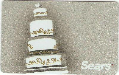 SEARS CANADA CAKE COLLECTIBLE Gift Card New No Value