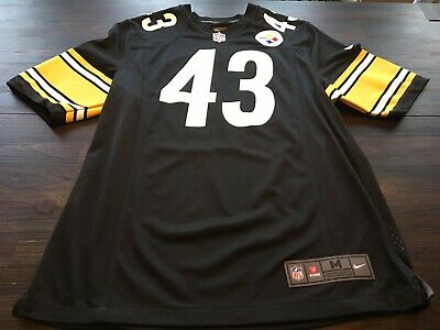 25fc68e90 NFL PITTSBURGH STEELERS TROY POLAMALU NIKE ON FIELD Mens jersey- Size Medium