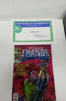 Thanos #13 Lenticular NM Signed w/COA Donny Cates 2018 FIRST COSMIC GHOST RIDER
