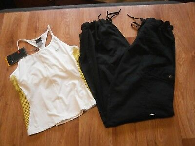Womens Nike Vest Top NWT & Dri Fit Nike Studio Dance Pants Black Size XS UK 6-8