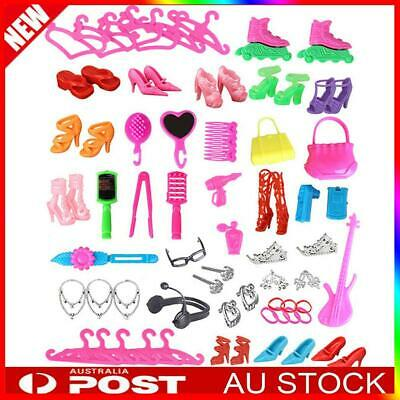 85 Pcs Doll Clothes Accessories Huge Lot Party Gown Outfits Girl Gift Set