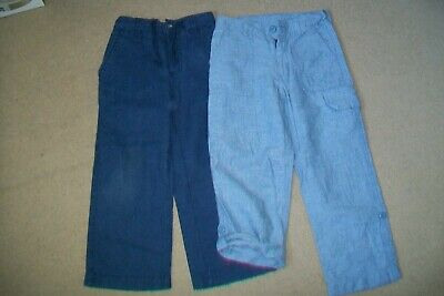 Lot of 2 boys linen/cotton trousers.3y,5y.Gap,John Lewis.New/used.