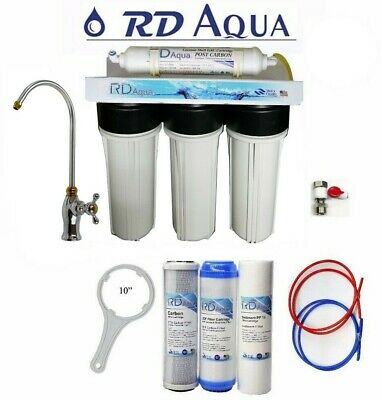 4 Stages Under Sink Water Filter System Lead Free NSF Certified