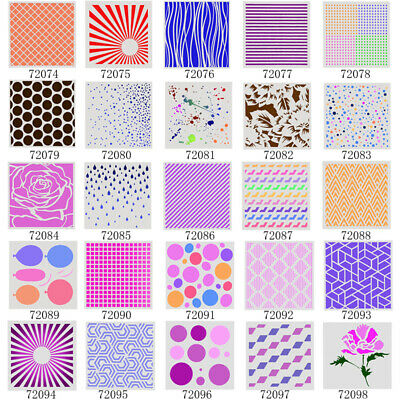 Hollow Layering Stencil Wall Painting Scrapbook Album Decor Embossing Template