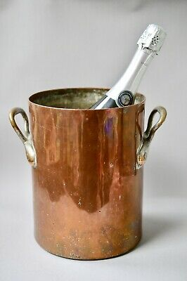 19th Century Twin Handled Copper Wine Cooler Garden Stock Pot French E Bonnet