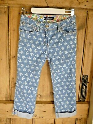 Mini Boden girls age 11 cropped capri jeans in excellent condition