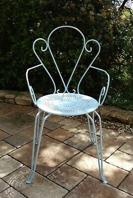 Fauteuil Chaise Style Jardin Forge Fer Metal Mobilier Ancien ...