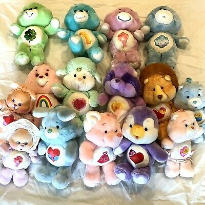 Lot of 15 Vintage CARE BEARS - Bears Cubs and Cousins
