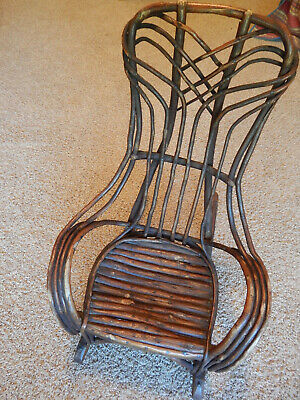Antique Child's Small Twig / Adirondack Style Rocking Chair