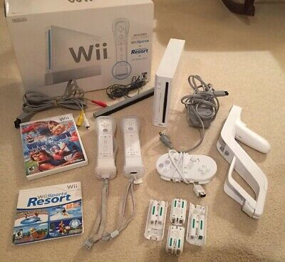 Nintendo Wii White Console Controllers Tested Gamecube Compatible System Bundle