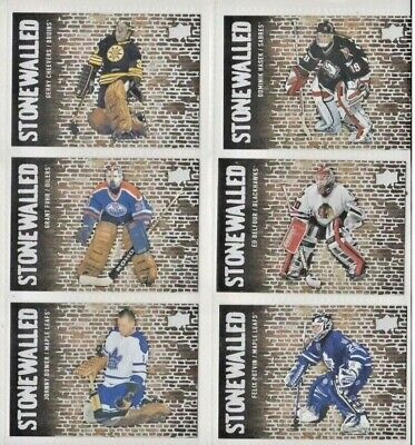 2018-19 Lot Of 6 Upper Deck Stonewalled  Inserts