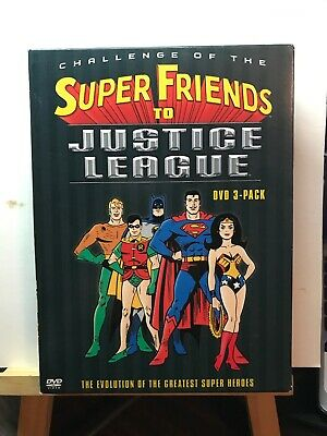 Used ~ Challenge Of The Super Friends To Justice League (DVD, 2004, 3-Disc Set)