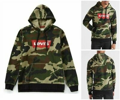 7232765c6cc4a Levi's Mens New Lathan Camo Hoodie Xl X-Large Shirt Jacket Camouflage  Pullover
