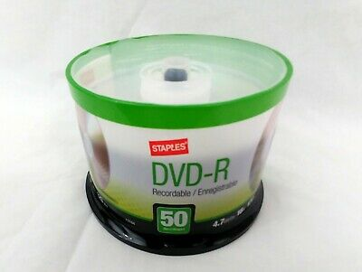 Staples 50/Pack 4.7GB 16X 120 Min DVD-R Spindle NIB