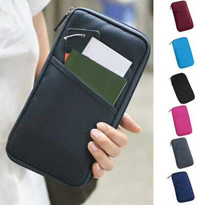 Durable Travel Document Organizer Family Passport Holder Wallet Long style AU