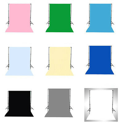 9 Type Solid Color 5x7FT 10x10FT Vinyl Studio Backdrop Photography Background LB