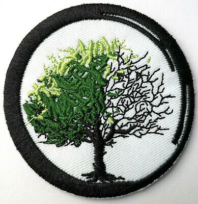 """Tree of Life Yggdrasil Buddhism Life & Death Spring Winter Embroidered Patch 3"""""""